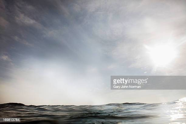 dramatic sea and sky