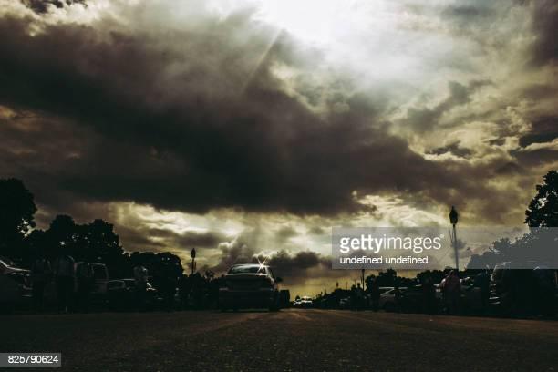 Dramatic shot of a cloudscape