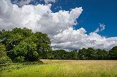Dramatic sky above a rural landscape