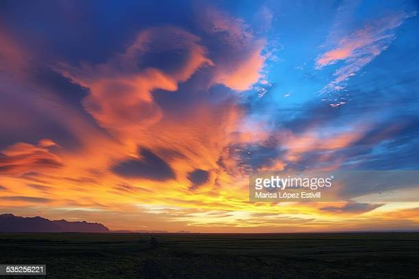 Dramatic sky in Iceland