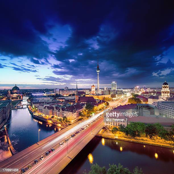 Dramatic Sky over Berlin Skyline