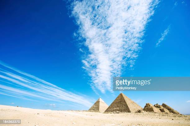 Dramatic Sky Over Great Pyramids of Egypt