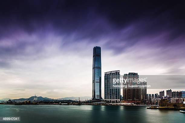 Dramatic sky over Hong Kong