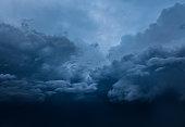 Dramatic clouds sky