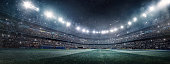 Dramatic soccer stadium panorama