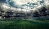 Dramatic soccer stadium