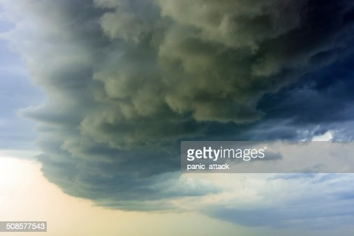 Dramatic storm clouds : Stock Photo
