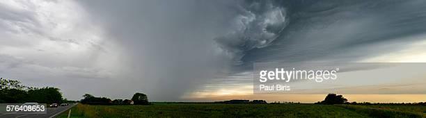 Dramatic stormy sky over Denmark, near Billund