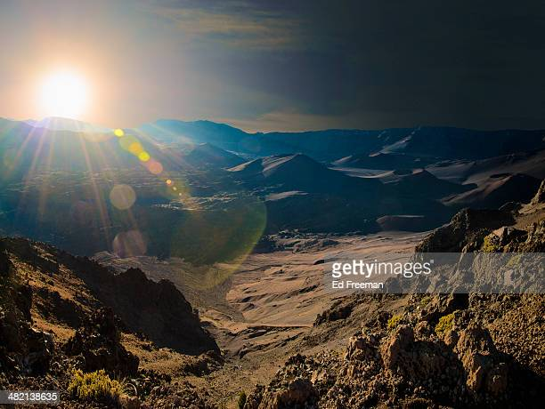 Dramatic Sunrise in Mountains