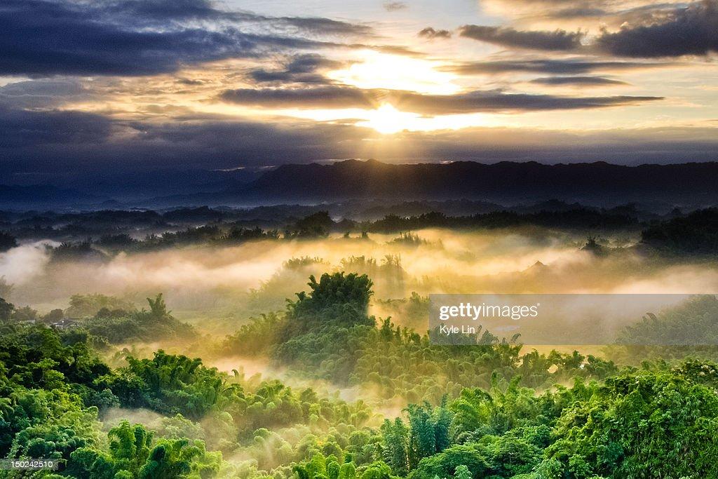 Dramatic sunrise : Stock Photo