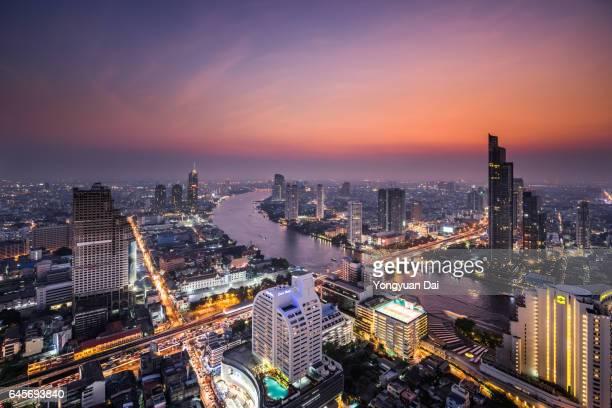 Dramatic Sunset in Bangkok