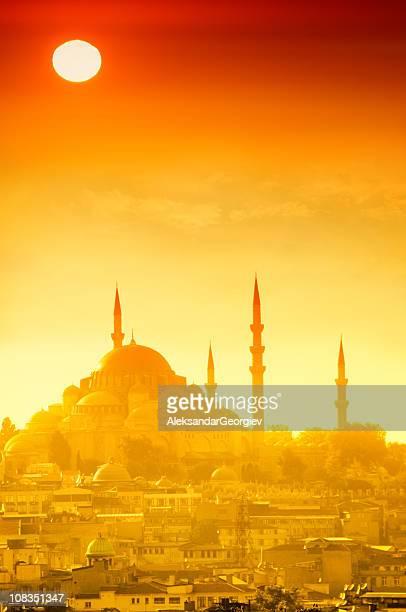Dramatischen Sonnenuntergang in Istanbul