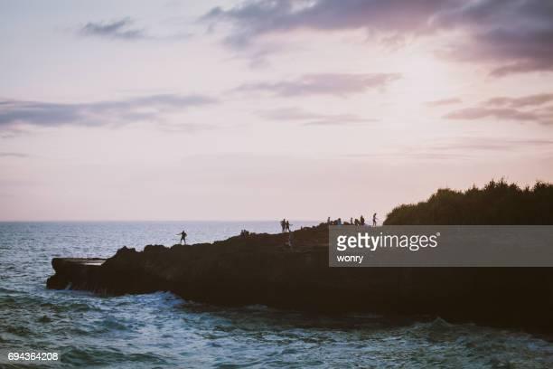 Dramatic sunset in Nusa Lembongan, Bali