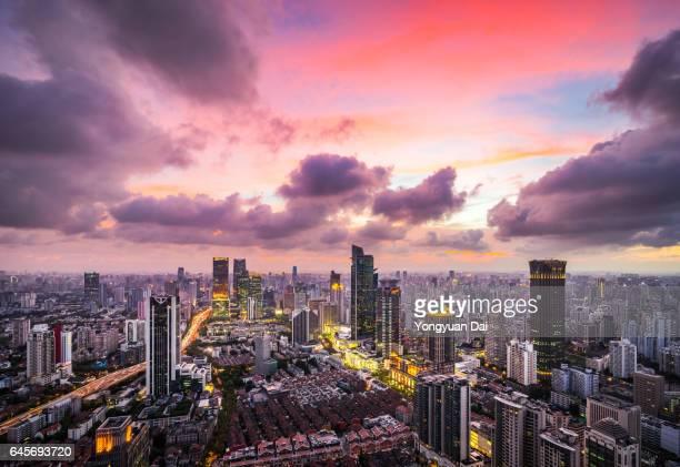 Dramatic Sunset in Shanghai