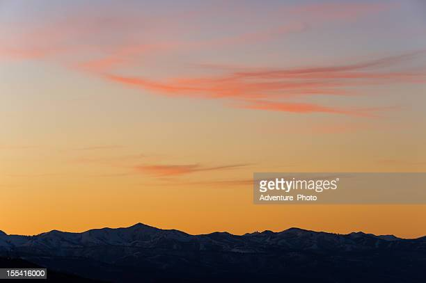 Dramatic Sunset in the Wasatch Mountains Utah