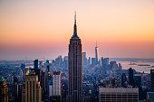 Iconic Manhattan skyline , New York City