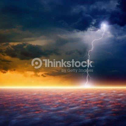 Dramatic sunset : Stock Photo