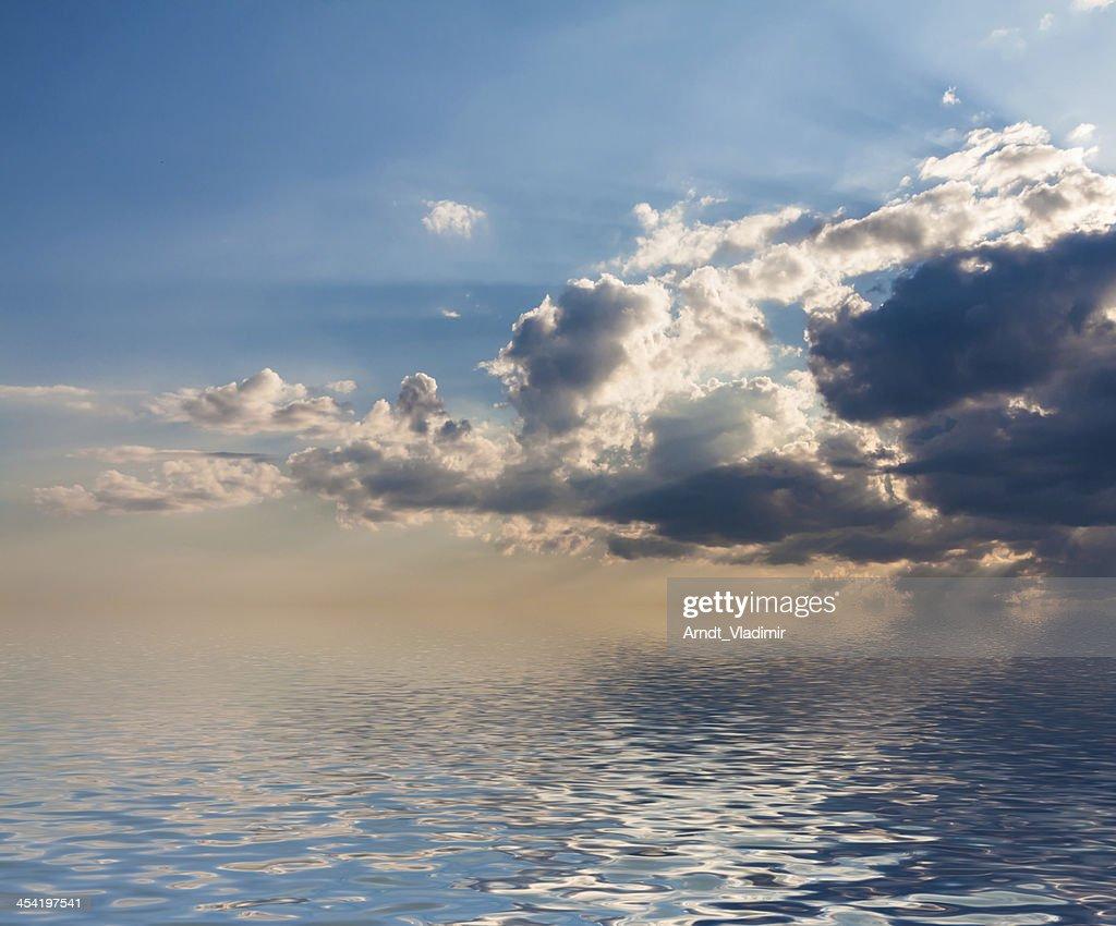 Dramatic sunset. : Stock Photo