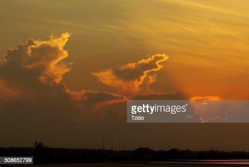 Dramatic sunset sky : Stock Photo