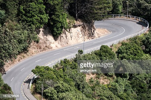 Dramatic Switchback Road
