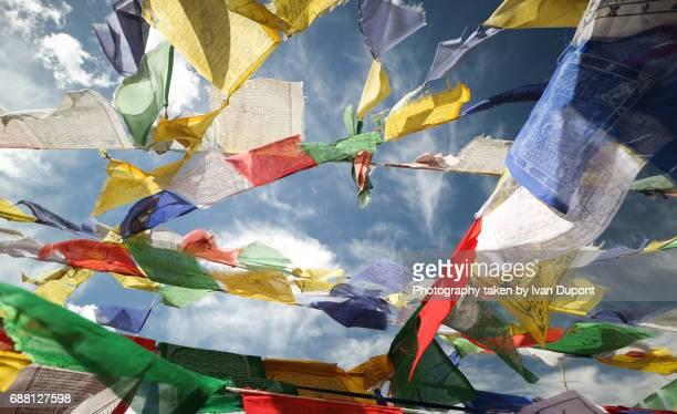 Drapeaux de prières bouddhiste au Ladakh
