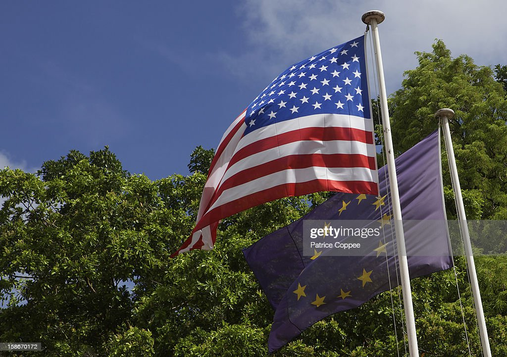 Drapeaux Europeen USA : Stock Photo