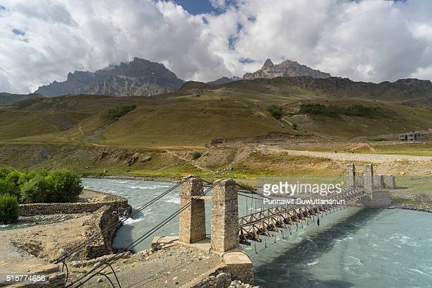 Drass village and a bridge, Jammu Kashmir