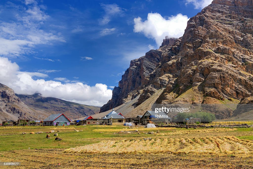Drass village, Kargil, Ladakh, Jammu and Kashmir, India : Stock Photo