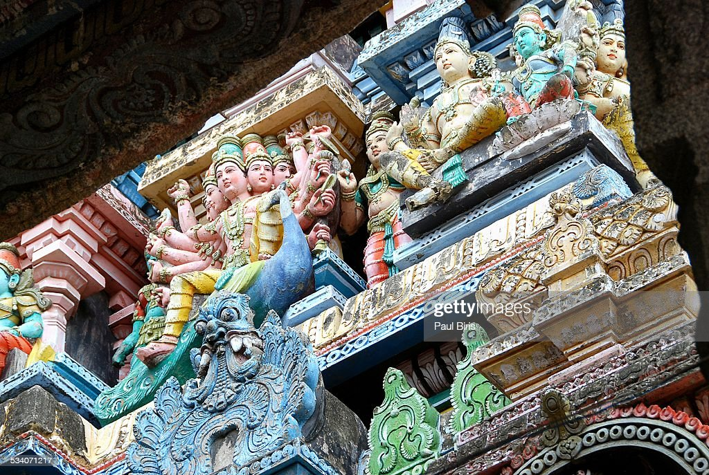 Dravidian architecture, Madurai Temple, India : Stock Photo