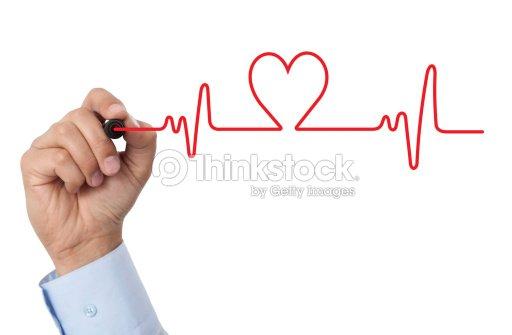 Dibujar Un Diagrama De Corazón Foto de stock | Thinkstock