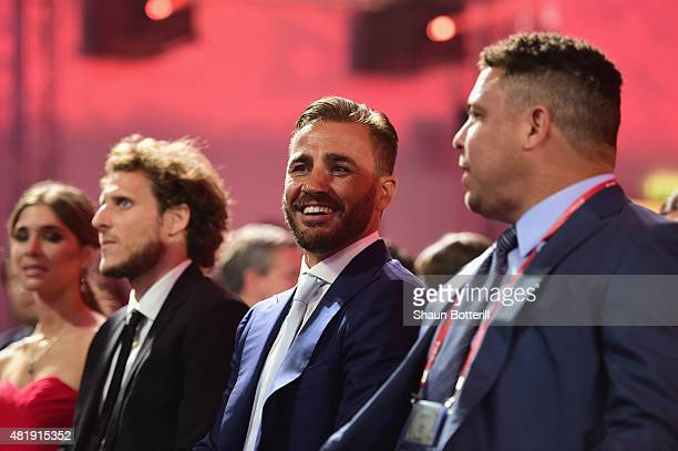 Draw assistant Fabio Cannavaro and Draw assistant Ronaldo attend the Preliminary Draw of the 2018 FIFA World Cup in Russia at The Konstantin Palace...