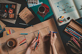 Draw your home: architect's workplace