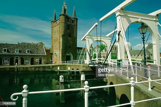 Drawbridge in a city, Zierikzee, Netherlands