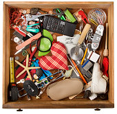 Dresser drawer that catches all the miscellaneous stuff that we all have. Image shot with Canon Rebel T6s 24 Megapixel DIGIC 6, 24-105mm f/4L IS USM lens, 100 ISO..