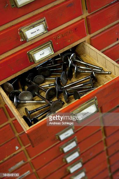 Drawer of motorcycle valves