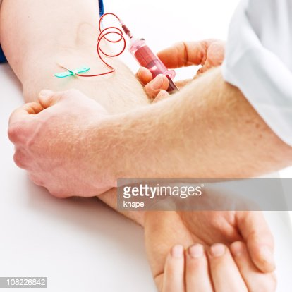 Drawing Blood from Arm : Stock Photo