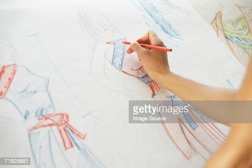 Drawing fashion designs