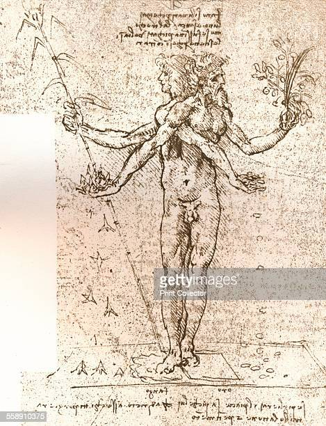 Drawing of an allegorical composition c1472c1519 From The Literary Works of Leonardo Da Vinci Vol 1 by Jean Paul Richter PH DR [Sampson Low Marston...