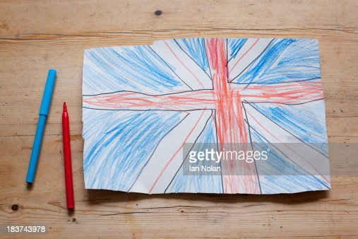 Drawing Of British Union Flag Stock Photo | Getty Images