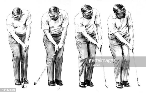 A drawing of golfer Jack Nicklaus circa 1960