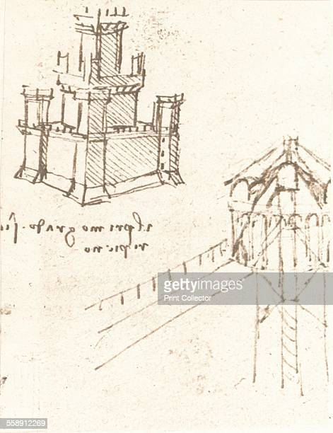Drawing of projects for castles and villas c1472c1519 From The Literary Works of Leonardo Da Vinci Vol II by Jean Paul Richter PH DR [Sampson Low...