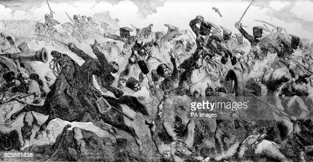 A drawing of the Charge of the Light Brigade when 600 horsemen were ordered to charge by Lord Raglan during the Crimean war in 1854 The Prince of...