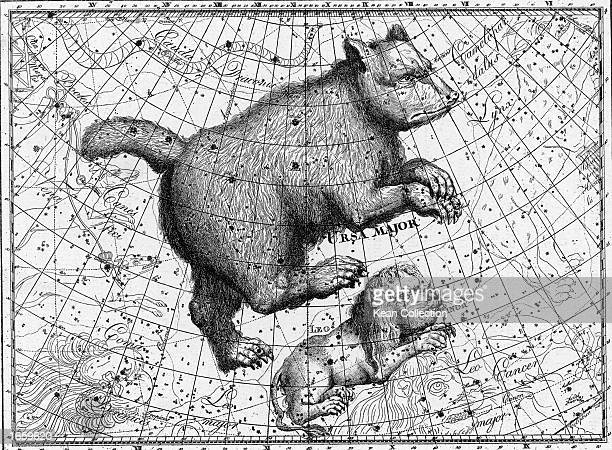 Drawing of the constellations Ursa Major and Leo Minor