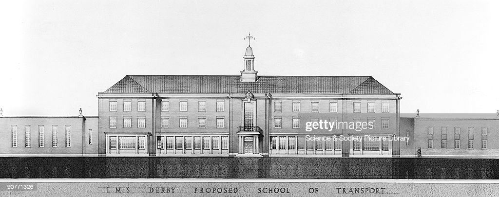 Drawing of the proposed school of transport at Derby about 1935 The school run by the London Midland Scottish Railway opened in 1938 and was the...
