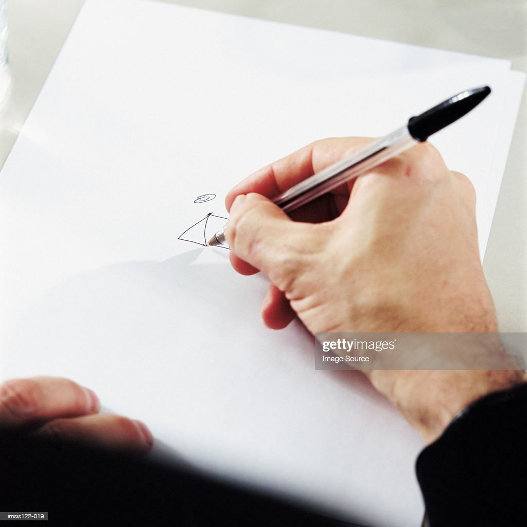 Drawing on a paper : Stock Photo