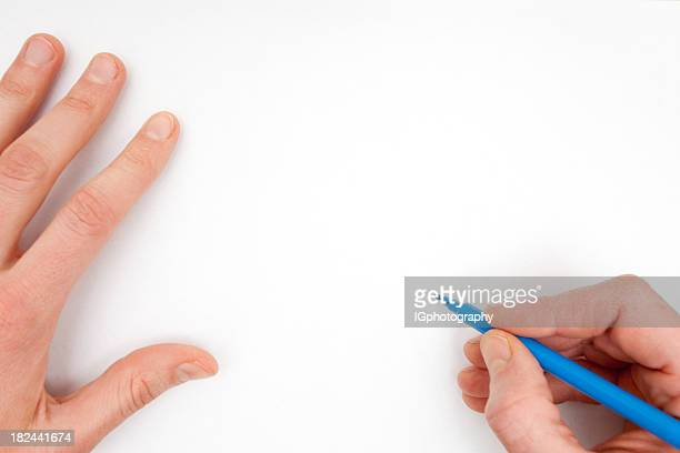 Zeichnung auf einem weißen Blatt