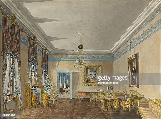 Drawing room in the House of Princess Anna Gagarina in Petersburg 1799 Private Collection Artist Kolmann Karl Ivanovich