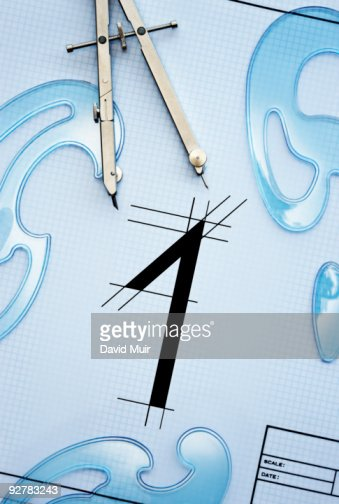 drawing the number one : Stock Photo