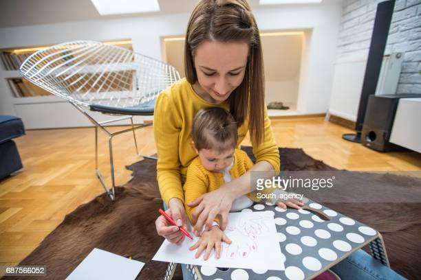 Drawing together at home
