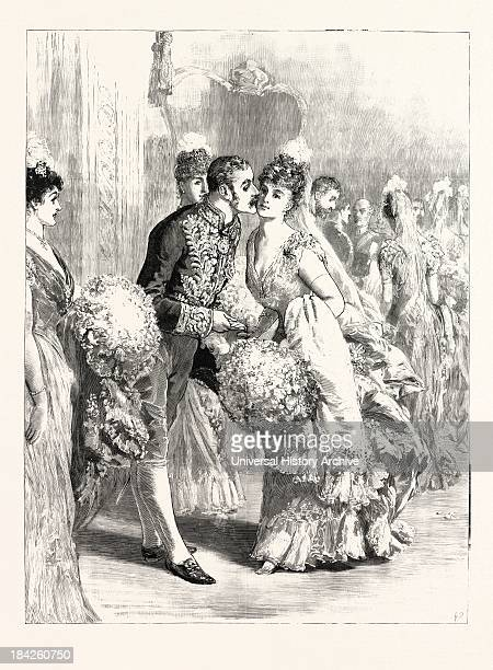 The Lord Lieutenant Kissing A Diabutante